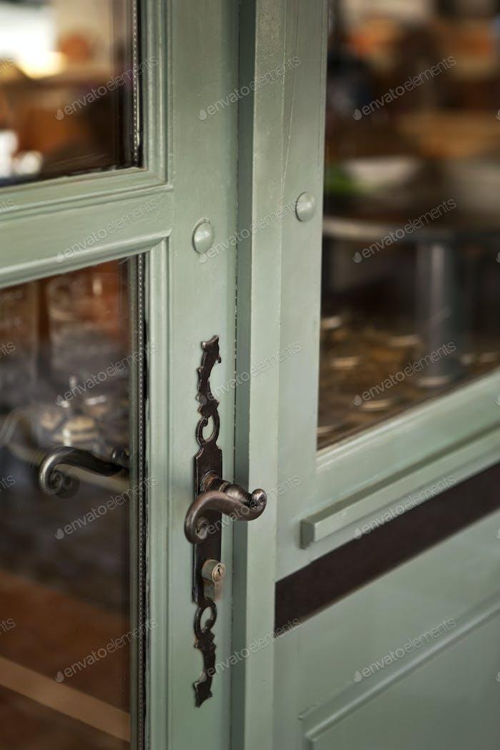 La manija de la cerradura de la Puerta