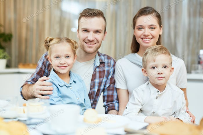 Family with two kids