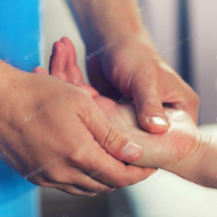 Chiropractic Hand Adjustment