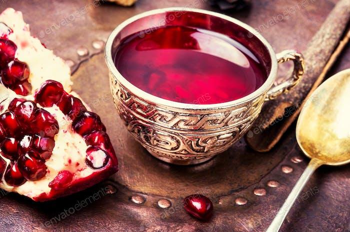 Tea with pomegranate