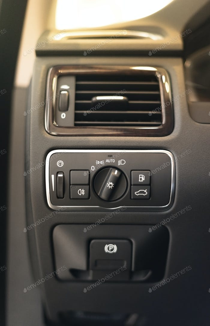 Modern car headlight controls.
