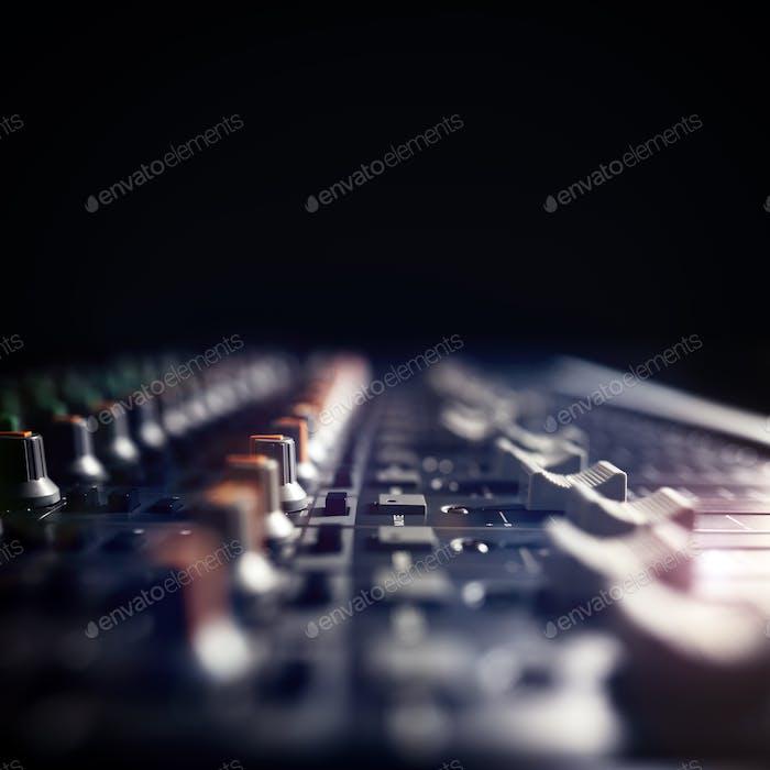 Студия звукозаписи микшер стол