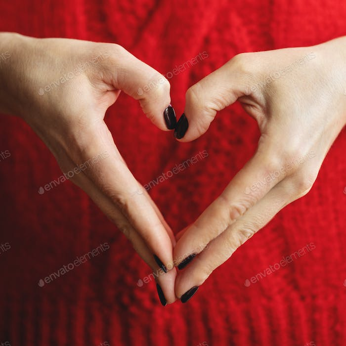 Hands Showing Heart. Square Image.