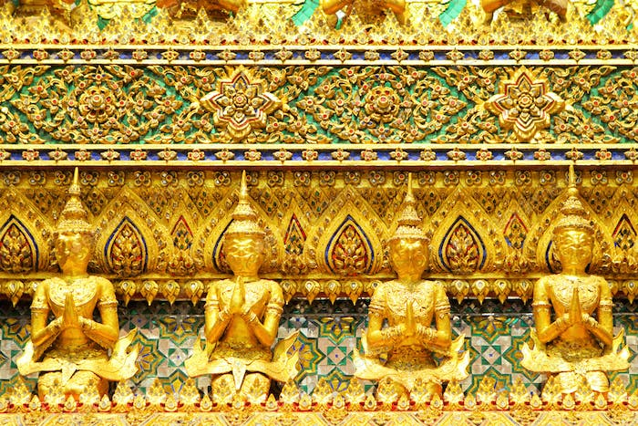Golden statue in grand palace