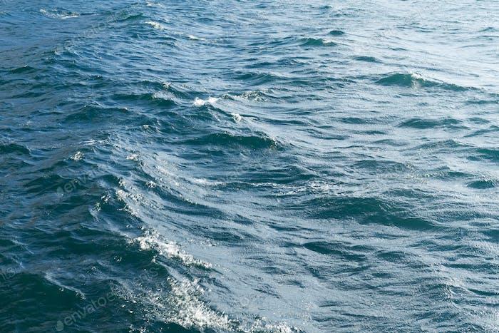 Draufsicht der Meereswelle