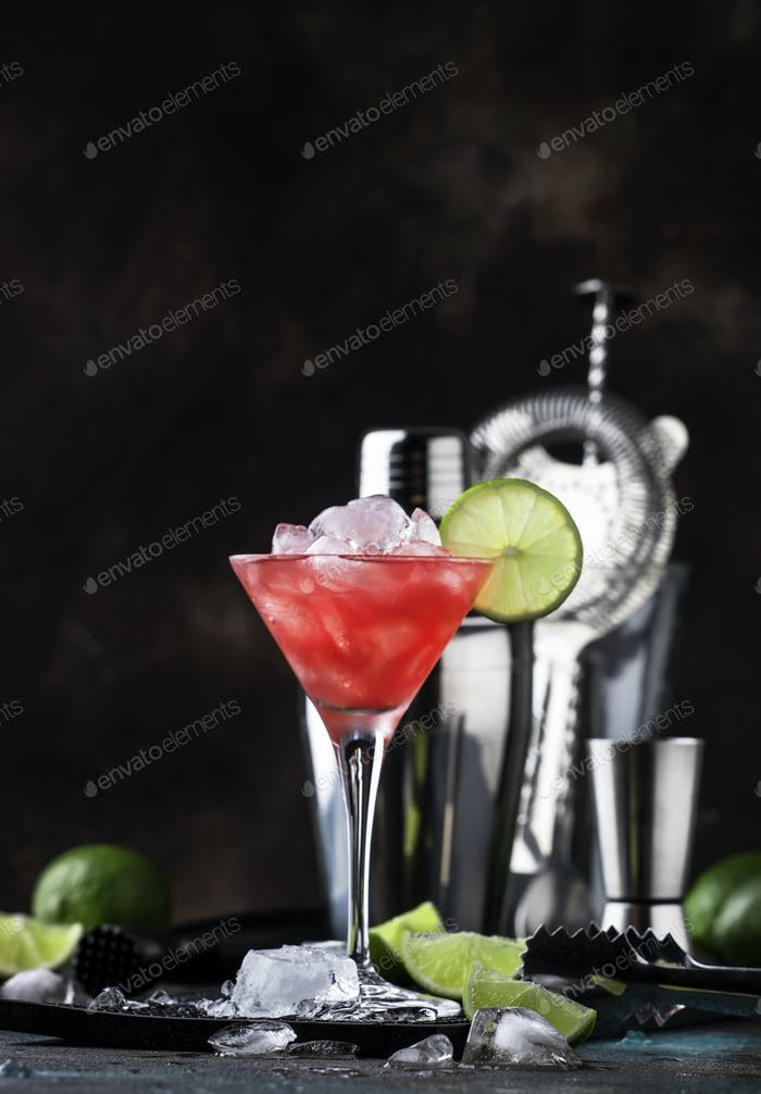 Red Watermelon alcoholic cocktail