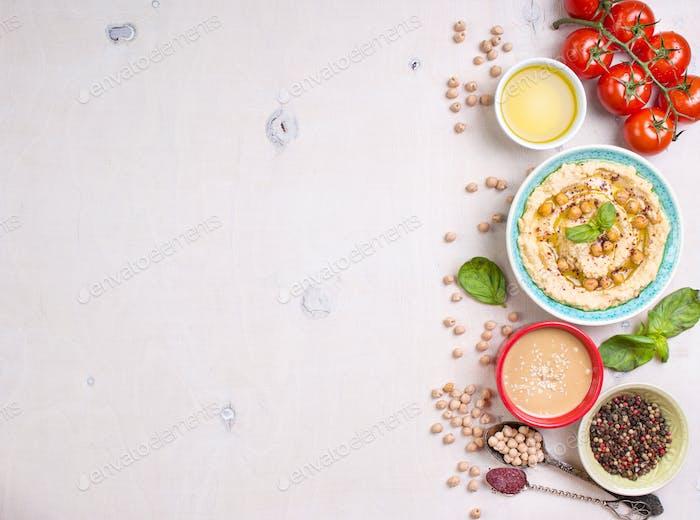 Hummus weißer Hintergrund