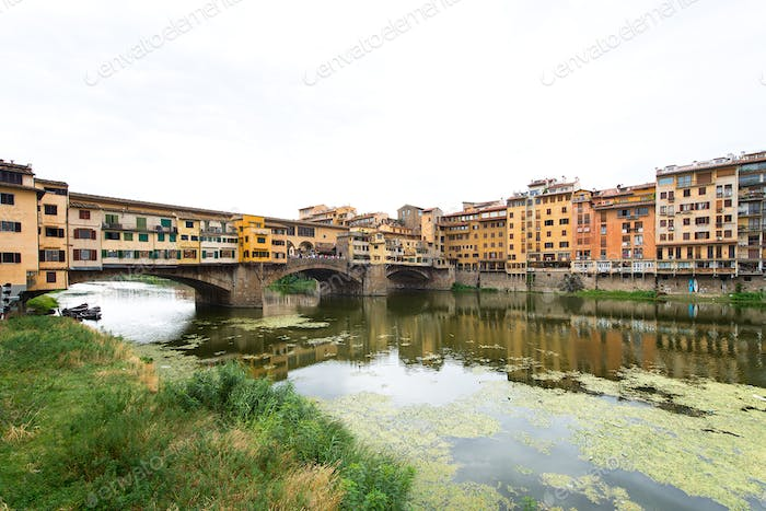 Florence, view of the Arno River