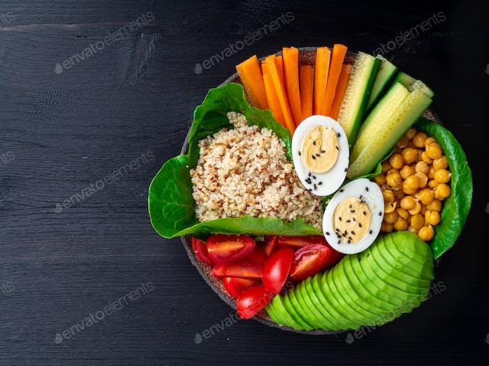 Vegetarische Buddha's Schüssel, eine Mischung aus Gemüse.