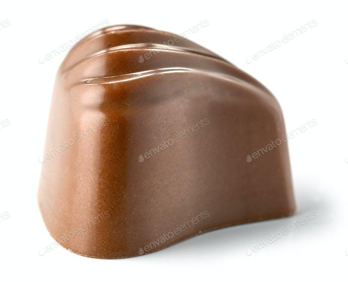 Schokoladen-Praline auf weißem Hintergrund