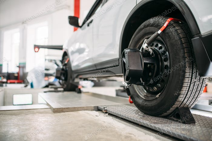 Targets on car wheels, collapse of convergence