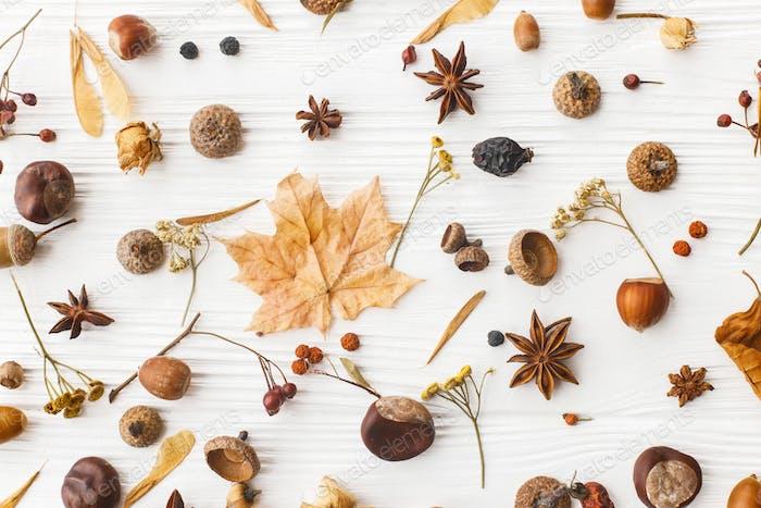 Minimalistic autumn natural pattern