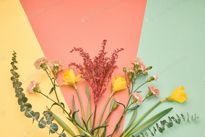 Trendy fashion Bouquet. Summer Concept. Minimal