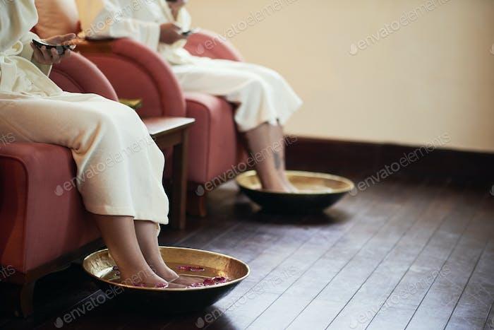 Pedicure at spa salon