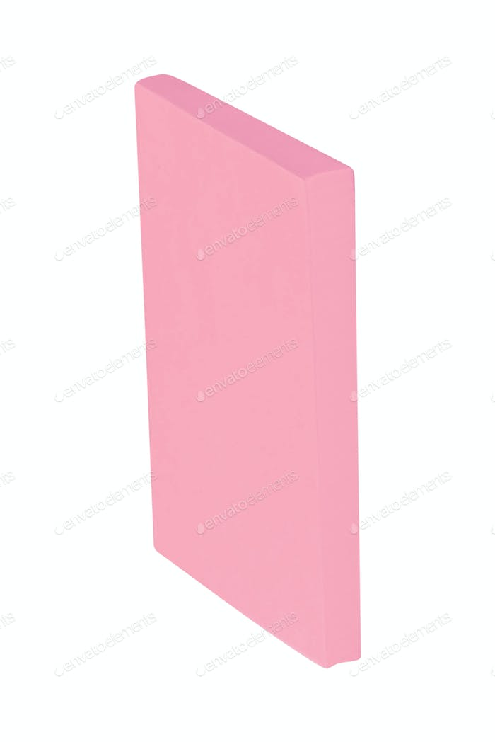 pink sticky post notes isolated