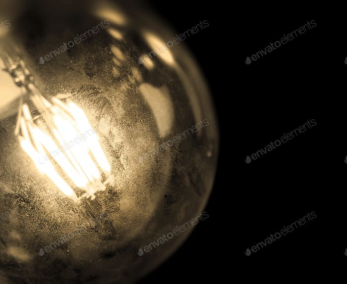 Incandescent filaments light bulb