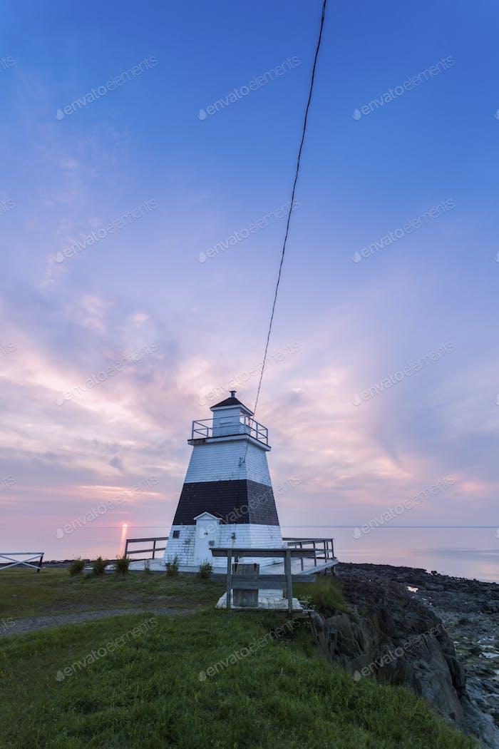 Margaretsville Lighthouse at sunset