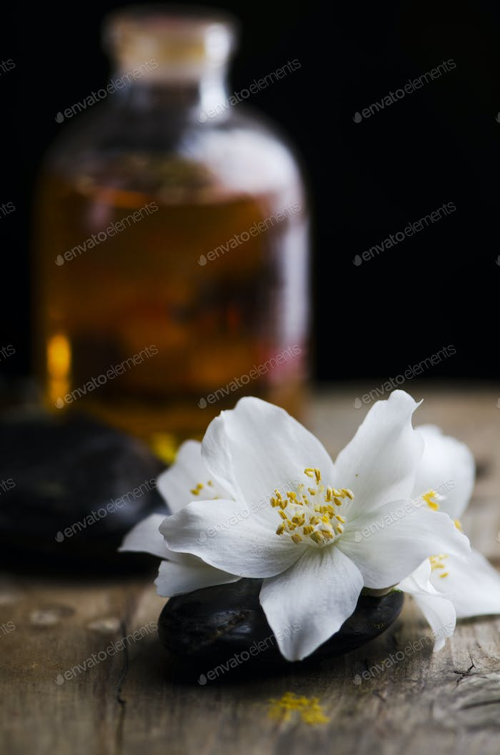 Essential oil and spa stones