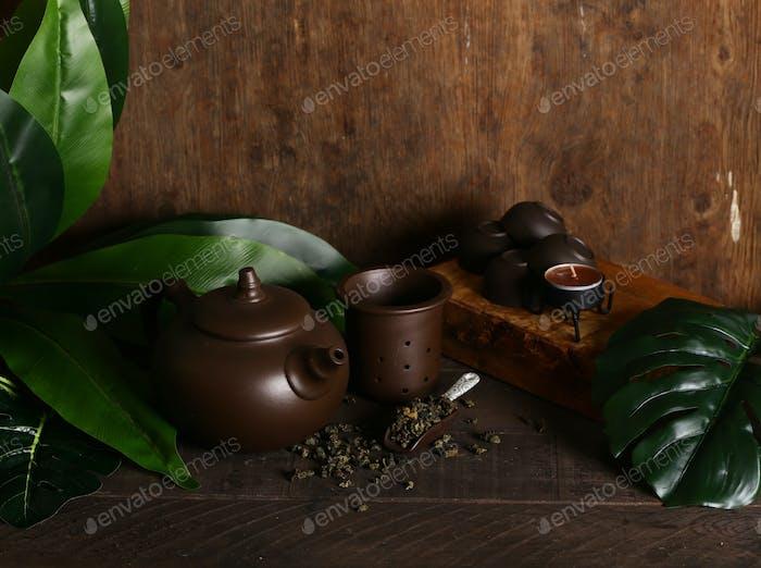 Zeremonie Grüner Tee