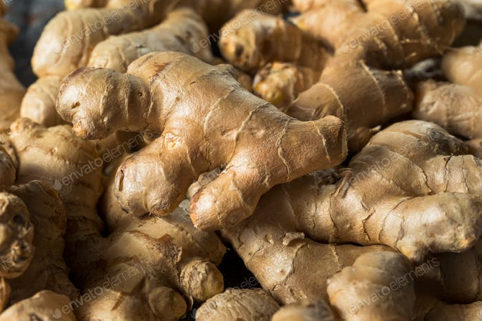 raw Brown Organic Spicy Ginger Root