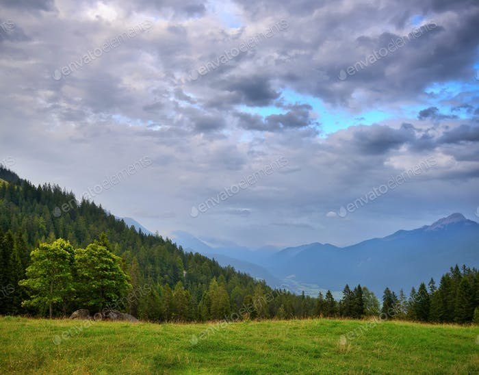 Beautiful summer mountain landscape