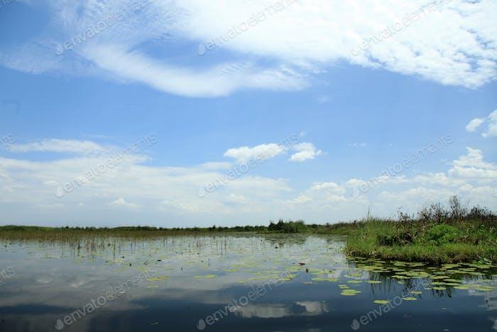 Peaceful Lake Setting - Uganda, Africa