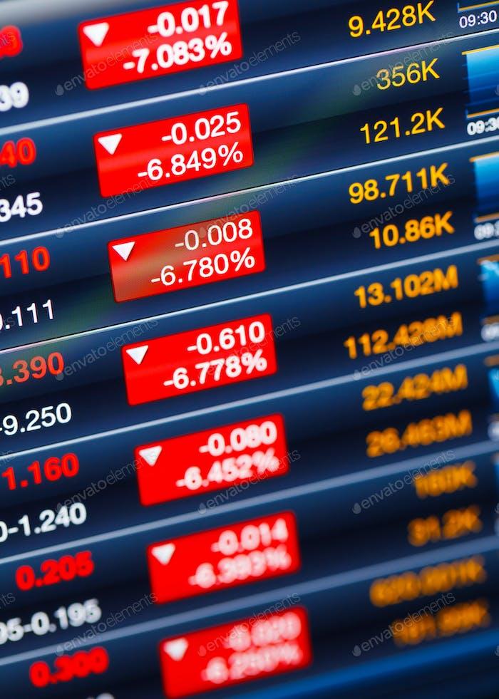 Recesión del mercado de valores