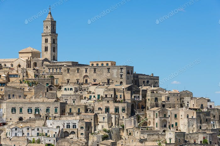 Matera old town architecture in Italy