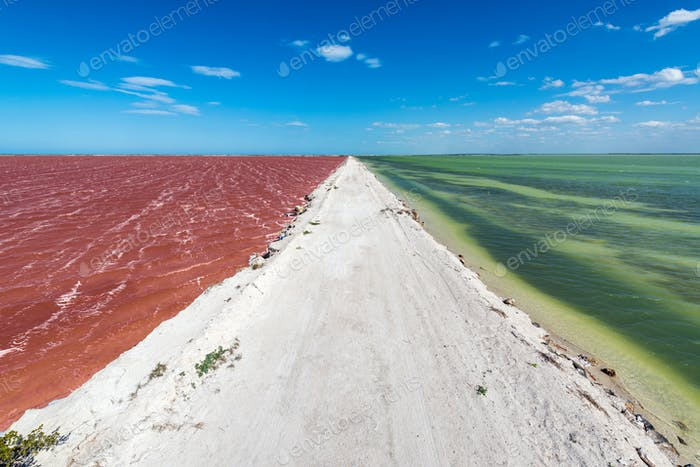 Dirt Road and Colorful Water