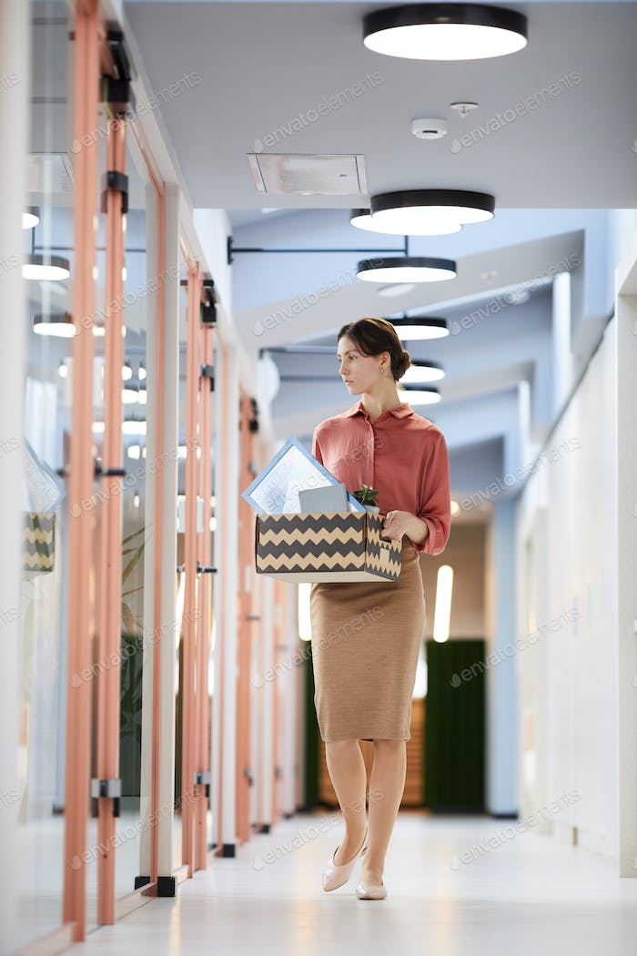 Young Businesswoman Leaving Work