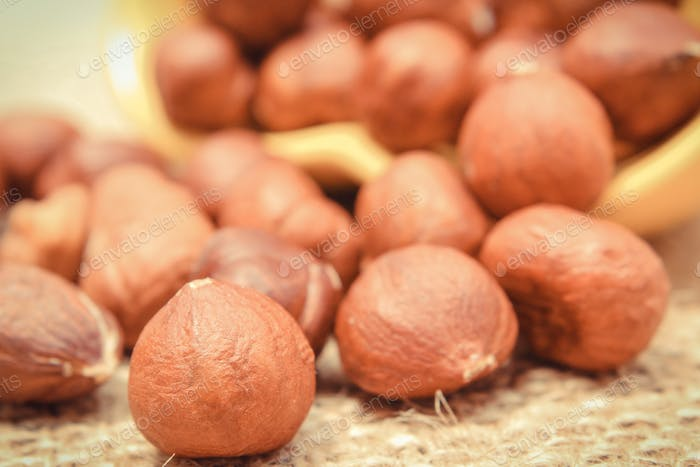Hazelnut as food containing vitamins and minerals