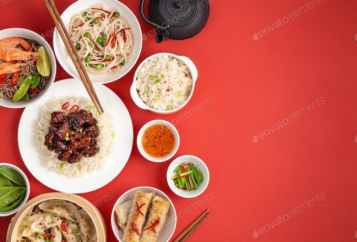 Verschiedene chinesische Gerichte