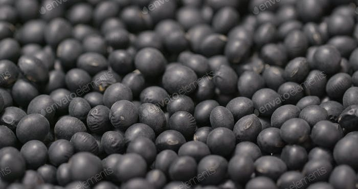 Stack of Black soy bean