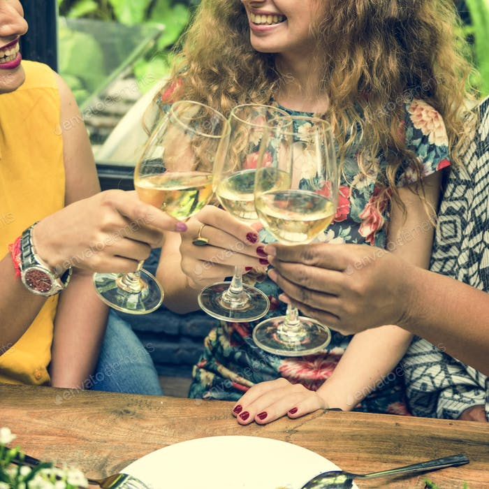 Frauen Kommunikation Dinner Together Konzept