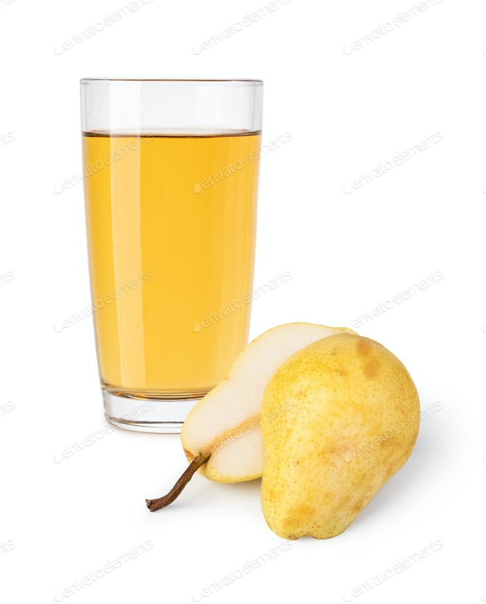 glass of pear juice