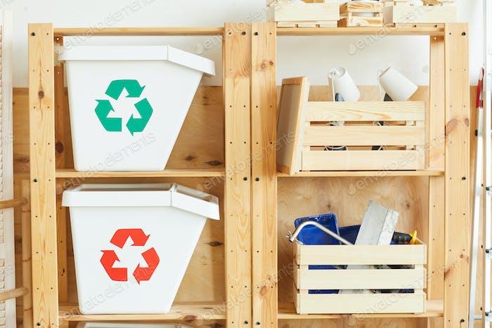 Trash bins and instruments