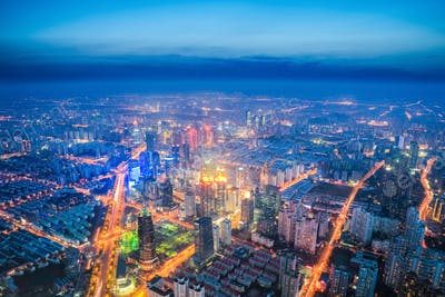 urban night scene