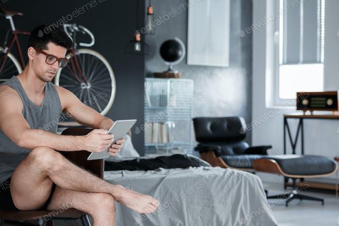 Spending time in bedroom