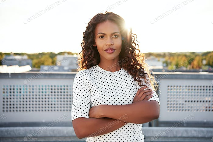Confident beautiful young African American woman