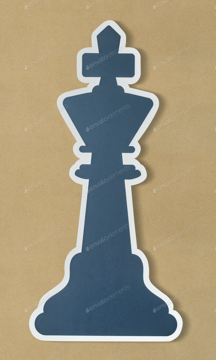 The king chess strategy icon