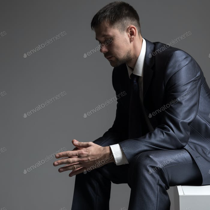 Thoughtful Businessman Portrait