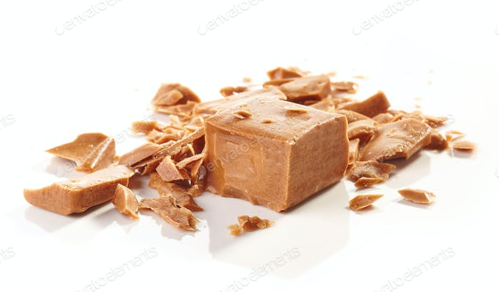 pieces of caramel candies