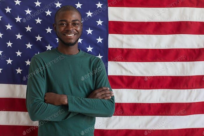 Happy Afro-American man