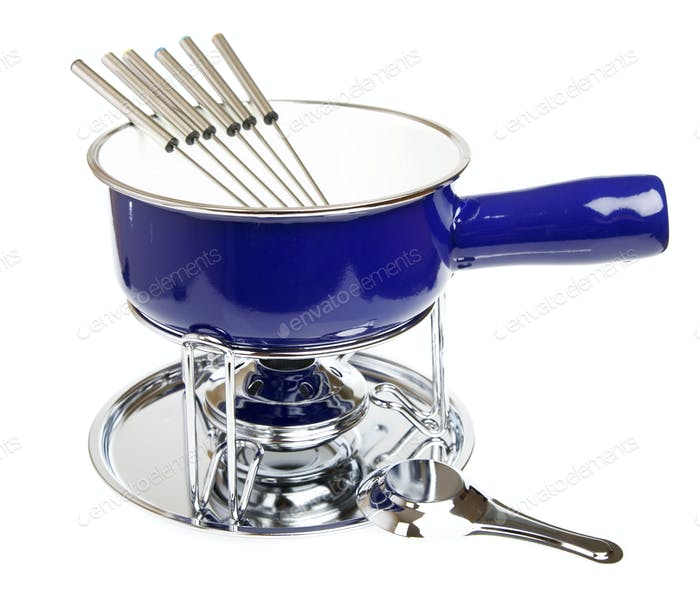 Fondue set isolated on a white background