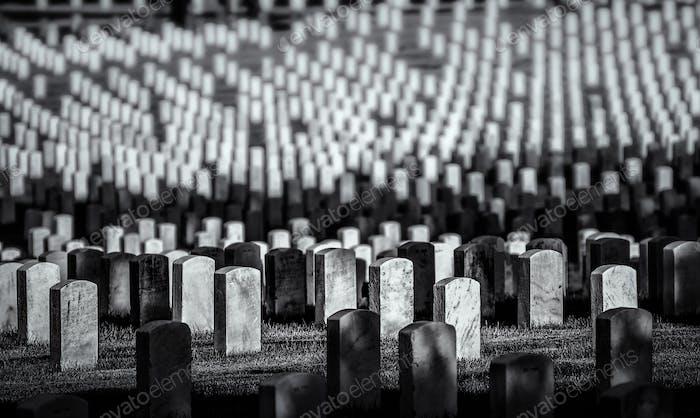 Gravestones in Arlington Cemetery, Virginia
