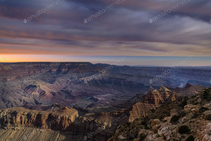 Grand Canyon During moonrise