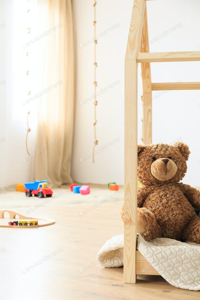 Teddy bear in room