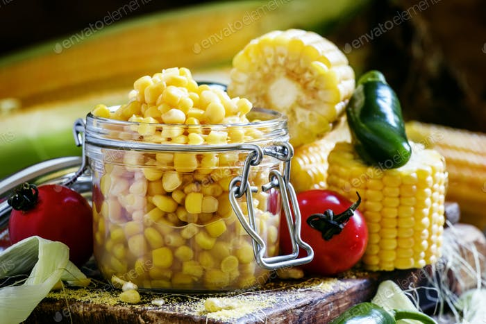 Canned corn and spices