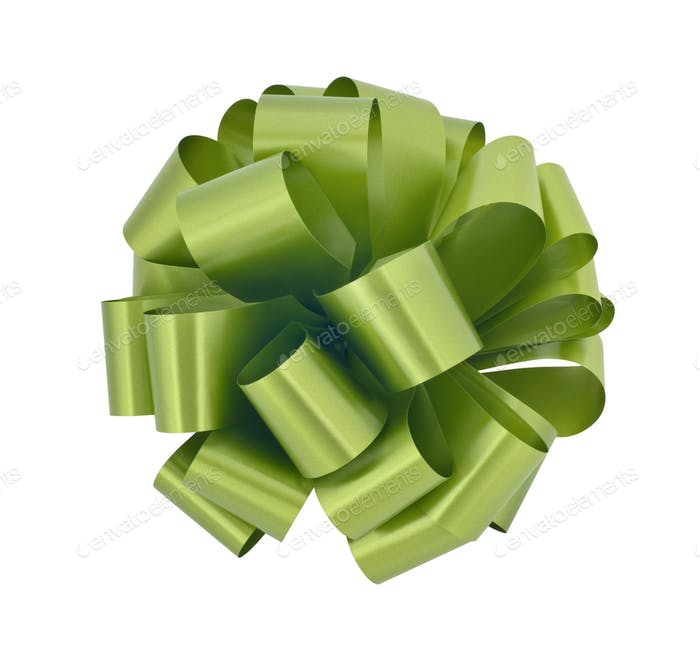 Green Gift Bow
