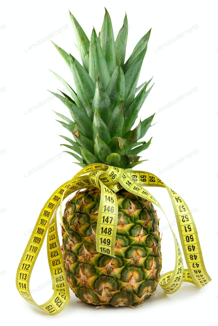 Ripe juicy pineappl